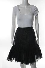 Oscar de la Renta Black Nylon Petticoat Skirt Size 6