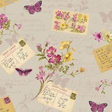 Sophie Conran Cartes Postales Maison Papier Peint Papillons Fleurs Gris -