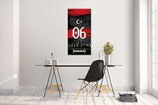 Wandtattoo Wandsticker Aufkleber Ankara 06 Plaka Tütkiye Grösse: 120 x 70 cm