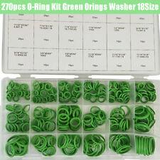 270PCS O-Ring Kit Green Rubber Washer Assortment 18Sizes Seal Gasket Mechanical
