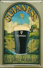 GUINNESS,/TASTE  IRELAND, EMBOSSED(3D) METAL ADVERTISING SIGN 30x20cm  IRISH BAR