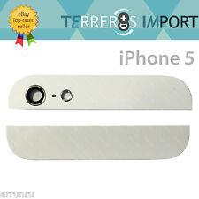 Cristal Superior e Inferior Blanco Parte Trasera iPhone 5 Cristal Camara Tapa