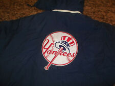 VINTAGE MLB STARTER GENUINE MERCHANDISE NEW YORK YANKEES HOODIE JACKET