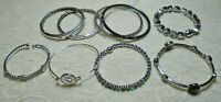 VINTAGE TO NOW ASSORTED STYLES & COLOR RHINESTONE BRACELET LOT