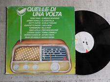Quelle di una volta - Modugno, Buscaglione, Nilla Pizzi, Claudio Villa... - LP