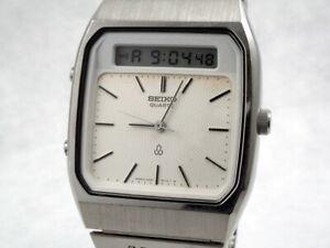 Vintage Seiko Analog/Digital Chronograph Alarm Watch H557-5100 new battery works