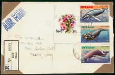 Mayfairstamps Niue Registered Whale Combo Cover wwh_31823