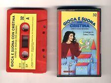 GIOCA E SUONA CON CRISTINA D'AVENA Musicassetta 32 OTTIMO Mc Audiocassetta 1989