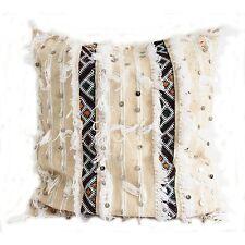 50 x 50 cm - Moroccan Handira Wedding Blanket Cushion Cover Case With Sequins...