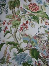 "SCHUMACHER CURTAIN FABRIC DESIGN ""Cranley Garden"" 1.9 METRES DOCUMENT"