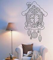 Wall Vinyl Fairytale Cuckoo-Clock Watch For Bedroom Mural Vinyl Decal (z3377)