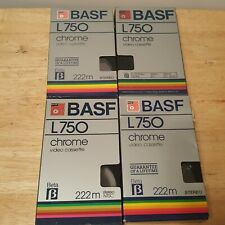 Lot of 4 Used BASF L750 BETA Tapes - Sold as Blanks - Betamax