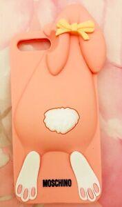 Cover IPhone 7 Plus Moschino Coniglietto Rosa