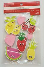 Creatology Valentine's day 16 pc fruit and hearts with eyes foam stickers