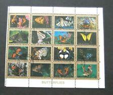 Umm Al Qiwain-1972-Butterfly Airmail stamp Minisheet-Used