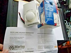 New in Open Box Marley Fahrenheat Electric Heat Bi-Metal Line Voltage Thermostat