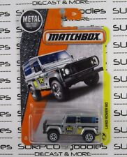 MATCHBOX 1:64 Scale 2017 Release Silver Taylor Construction LAND ROVER 90 4X4