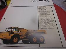 Volvo BM A30 6X6 Articulated Truck Brochure