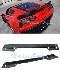 For 14-Up Corvette C7 Z06 Z07 Rear Spoiler Wickerbill dark Tint Stage 3 Upgrade