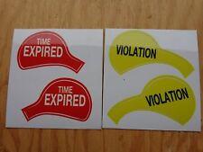 "Duncan Miller Parking Meter Model 60 ""TIME EXPIRED & VIOLATION"" Decals. NEW"
