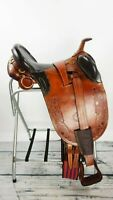"16"" Australian Stock Handmade Fully Rigged, Trail Horse Saddle endurance riding"