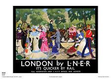 LONDON VICTORIAN RETRO ART VINTAGE RAILWAY TRAVEL POSTER ADVERTISING RAIL