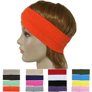 3 piece Stretch Headbands Yoga Sport Soft Hair Band Wrap Gym Cotton Blend Unisex