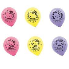 "Hello Kitty Assorted 12"" Latex Balloons (6) -NEW!!"