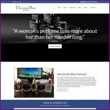 DESIGNER PERFUME Website Business For Sale Earn $62.40 A SALE FREE Domain Hostin