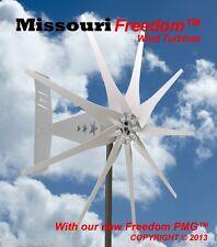 Wind turbine Missouri Rebel Freedom 12 volt 1700 watt max 9 blade Galvanized