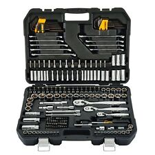 Strong Durable1/4 in. x 3/8 in.Drive Polished Chrome Mechanics Tool Set200-Piece