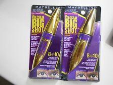 2 Pk Maybelline The Colossal Big Shot Volum' Express Mascara 223 Blackest Black