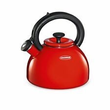 NEW Chasseur Domus Enamelled Whistling Kettle 2.5L Red (RRP $129)