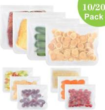 Reusable Thick Silicone Vacuum Food Storage Freezer Bags Ziplock Leakproof Fresh