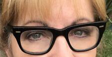 Vintage Vam Black Usa Cat Eye Horn Rim Eyeglass Eyeglasses Small Frames
