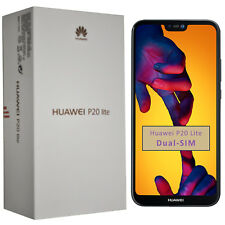 New Huawei P20 Lite ANE-LX1 64GB Midnight Black Dual-SIM Factory Unlocked 4G GSM