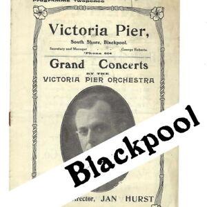 1923 Blackpool Victoria Pier Concert programme