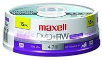 Maxell 634046 Rewritable Dvd+Rw 15 Pack Digital Recording Media