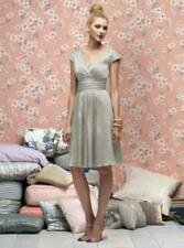 Lela Rose 166....Cocktail length, Satin Dress.....Gray...Alabaster.....Sz 12
