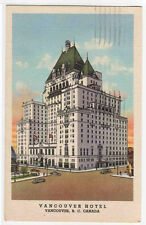Vancouver Hotel Vancouver BC Canada 1948 linen postcard
