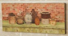 Country wood wall print / the POTTERY SHELF / nice print