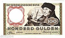 PAYS BAS Netherlands Billet 100 GULDEN 1953 P88 ERASMUS BON ETAT