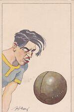 CARTOLINA ANNI '30 GIOCATORE DI PALLONE CALCIO FOOTBALL 1-109