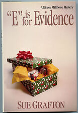 """Fiction: """"E"""" IS FOR EVIDENCE by Sue Grafton. 1988. Signed."""