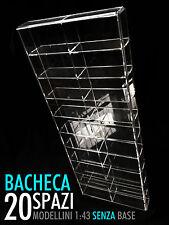 Bacheca/Vetrina in plexiglass Scala 1:43 modellini senza base - 20 moduli