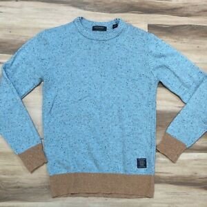 Scotch & Soda Blue Speckled Wool Blend Mens Crewneck Sweater Size Small