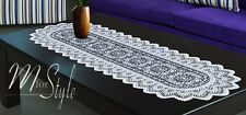 """Table Runner Lace White or Antique Gold Polyester 14"""" x 47"""""""