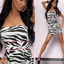 Kurze ärmellose Damenkleider aus Viskose