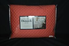 Charter Club Damask Solid Diamond Dot Quilted Full/Queen Coverlet Set Dark Orang