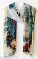 Women Fashion Stylish Multicolor Soft Chiffon Scarf Wrap Shawl Stole Yellow
